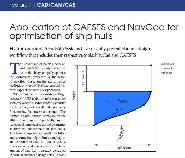 Article – Application of CAESES and NavCad for optimization of ship